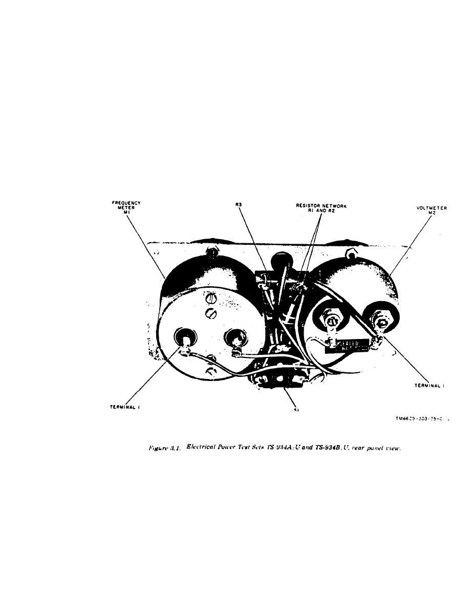 FIGURE 3-1. ELECTRICAL POWER TEST SETS TS 934A;U AND TS