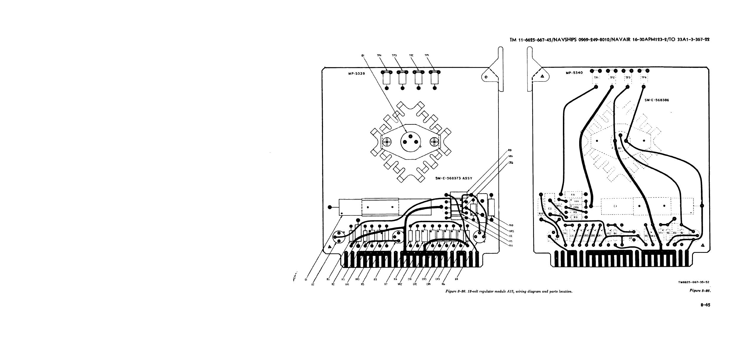 FIGURE 8-26. 12-VOLT REGULATOR MODULE A13, WIRING DIAGRAM