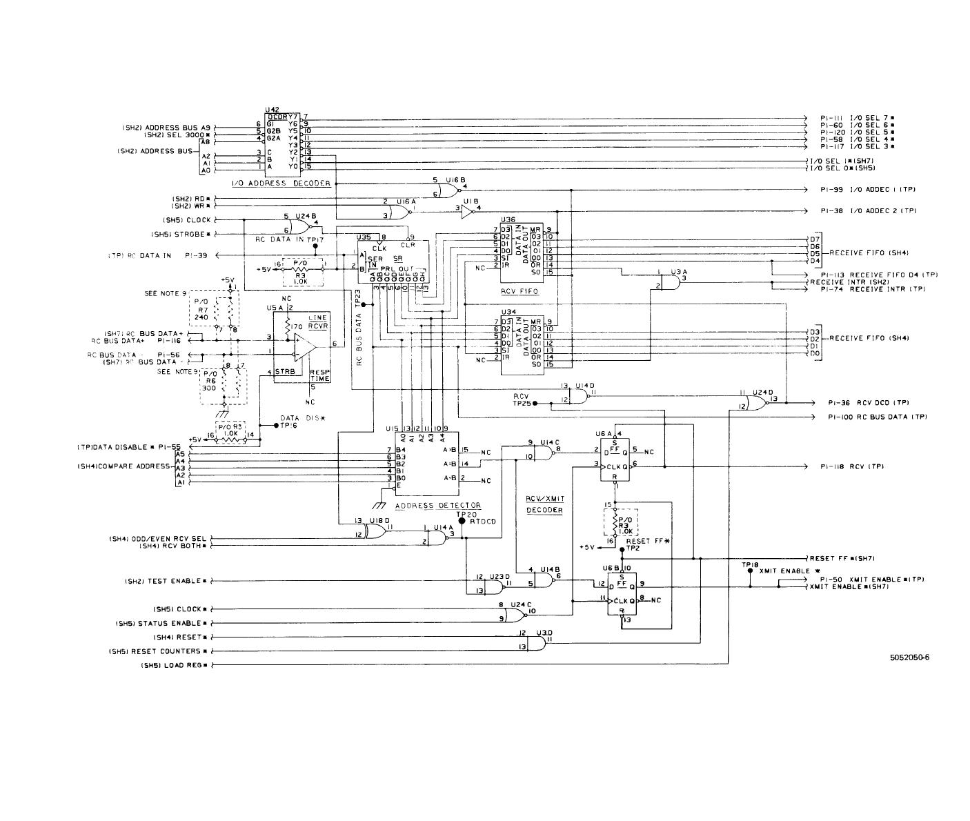 FO-10. RC Bus Interface/8085 CPU CCA (A7), Schematic