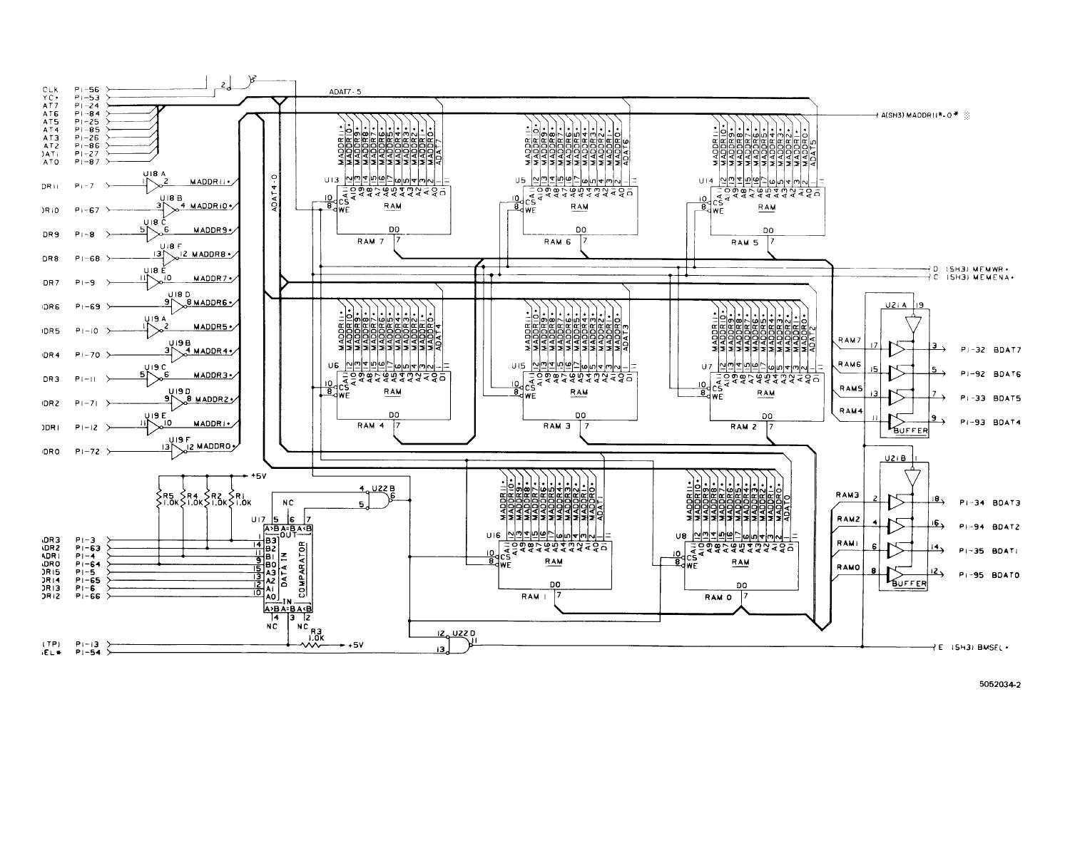 FO-14. 4K RAM CCA (A11), Schematic Diagram ( Sheet 2 of 3 )