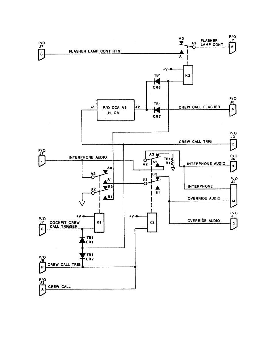medium resolution of countermeasures control intercom control circuit simplified schematic diagram