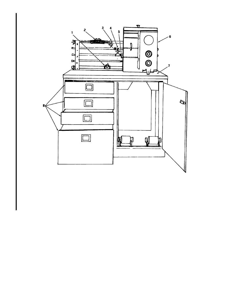 Figure 2-14. Distillation Cabinet (Single) (Unit No. 4)