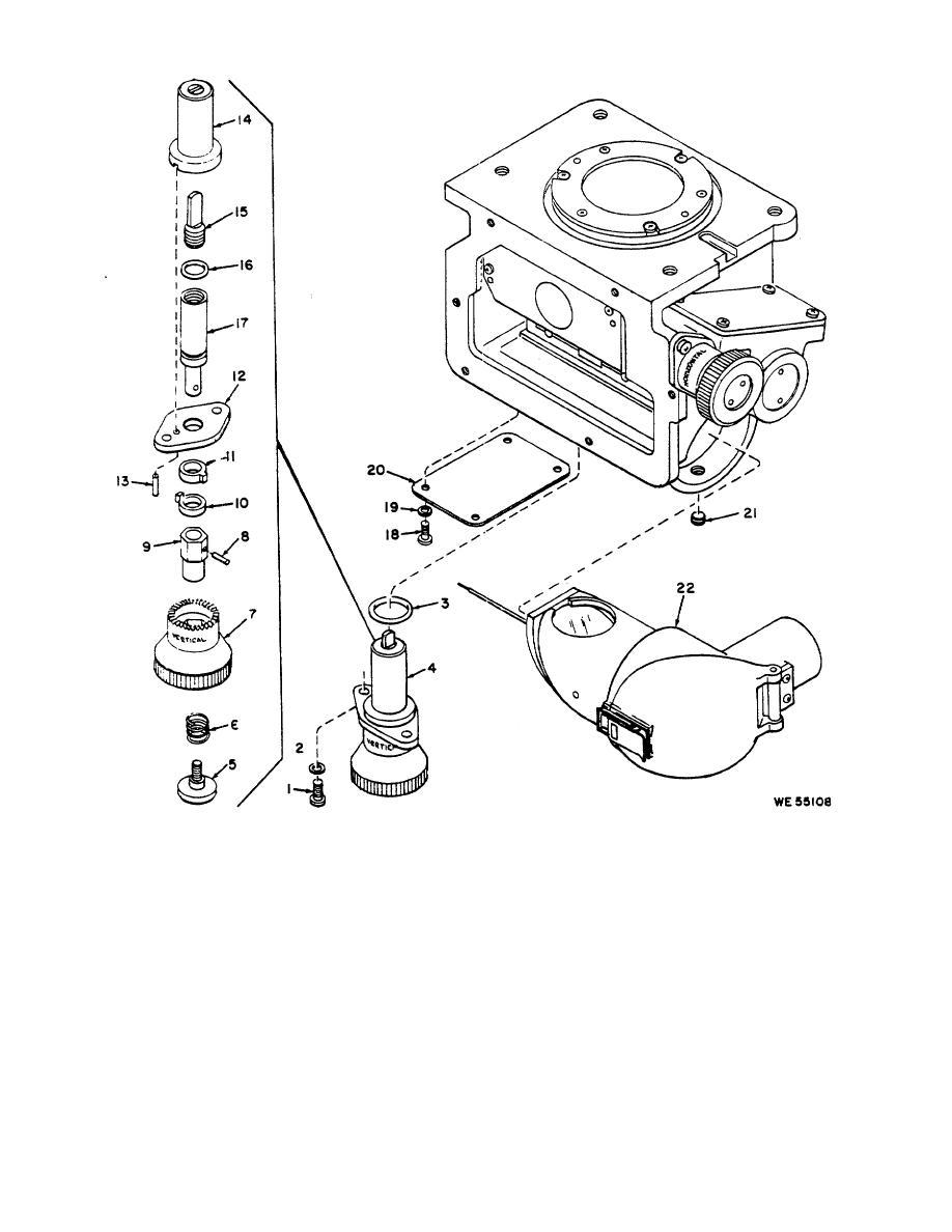 Figure 3-8. Horizontal or vertical boresight control dial