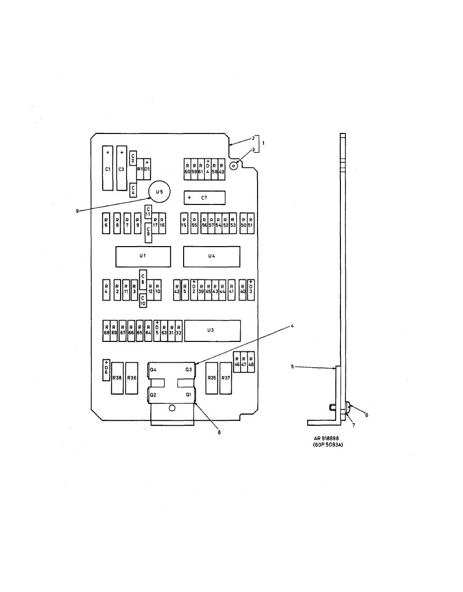 Figure E-13. Low Airspeed Indicator, Printed Wiring Board