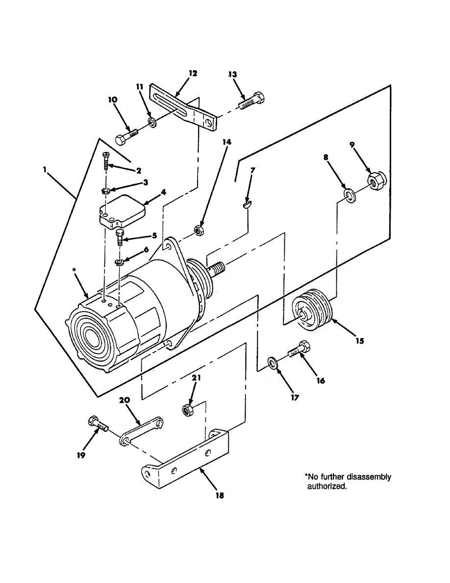 Figure 33. 60 Amp Alternator 10929868 and Mounting Hardware