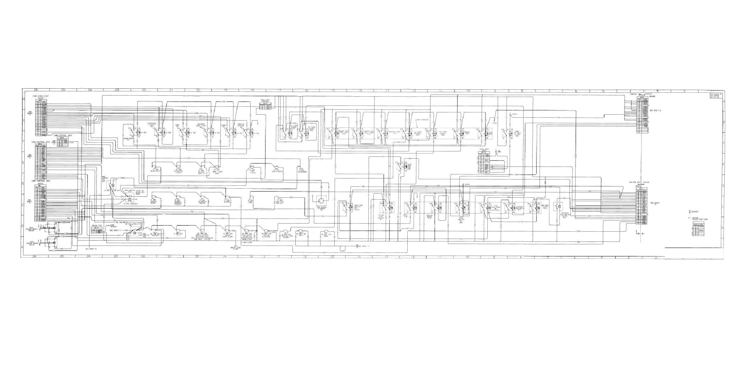 FIGURE FO-1. ELECTRICAL SYSTEM SCHEMATIC FOLDOUT 5 OF 11