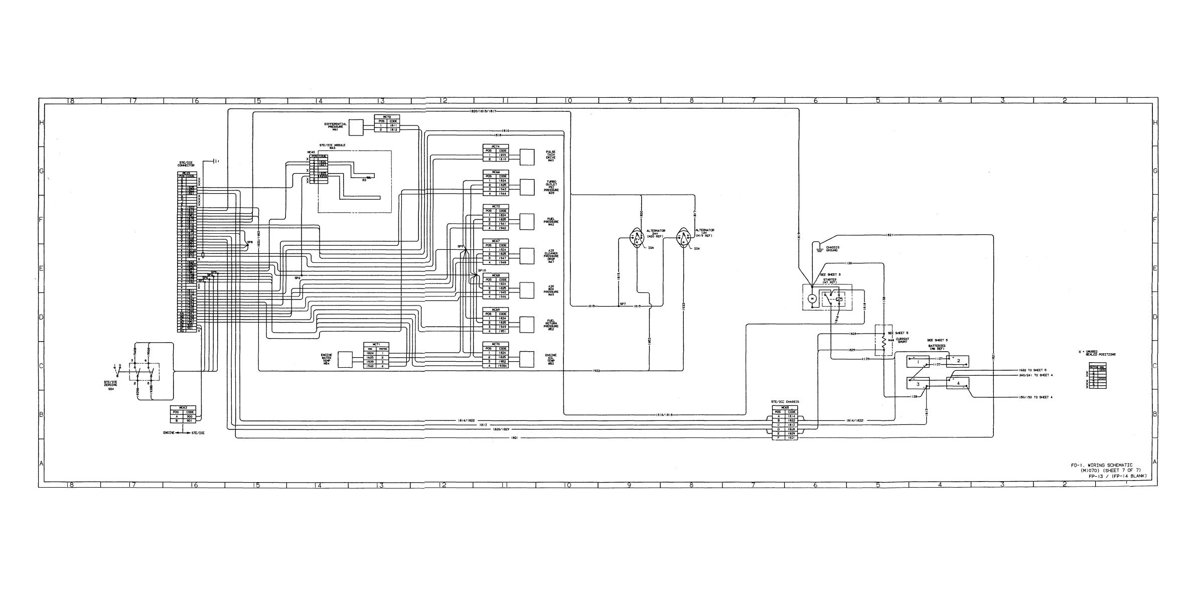 FO-2. AIR SCHEMATIC (M1070) (SHEET 1 OF 2)