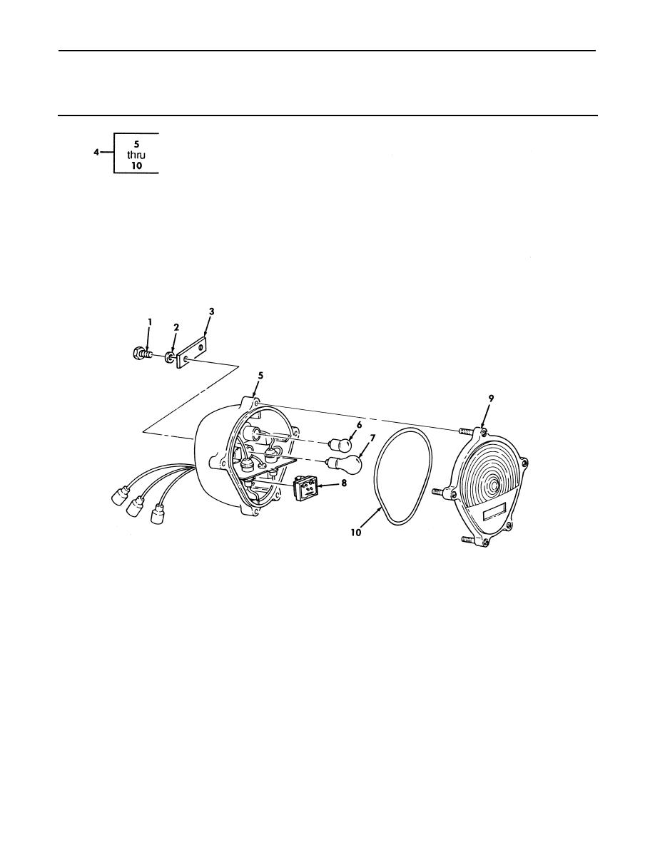 Figure 57. Front Composite Light and Mounting Hardware