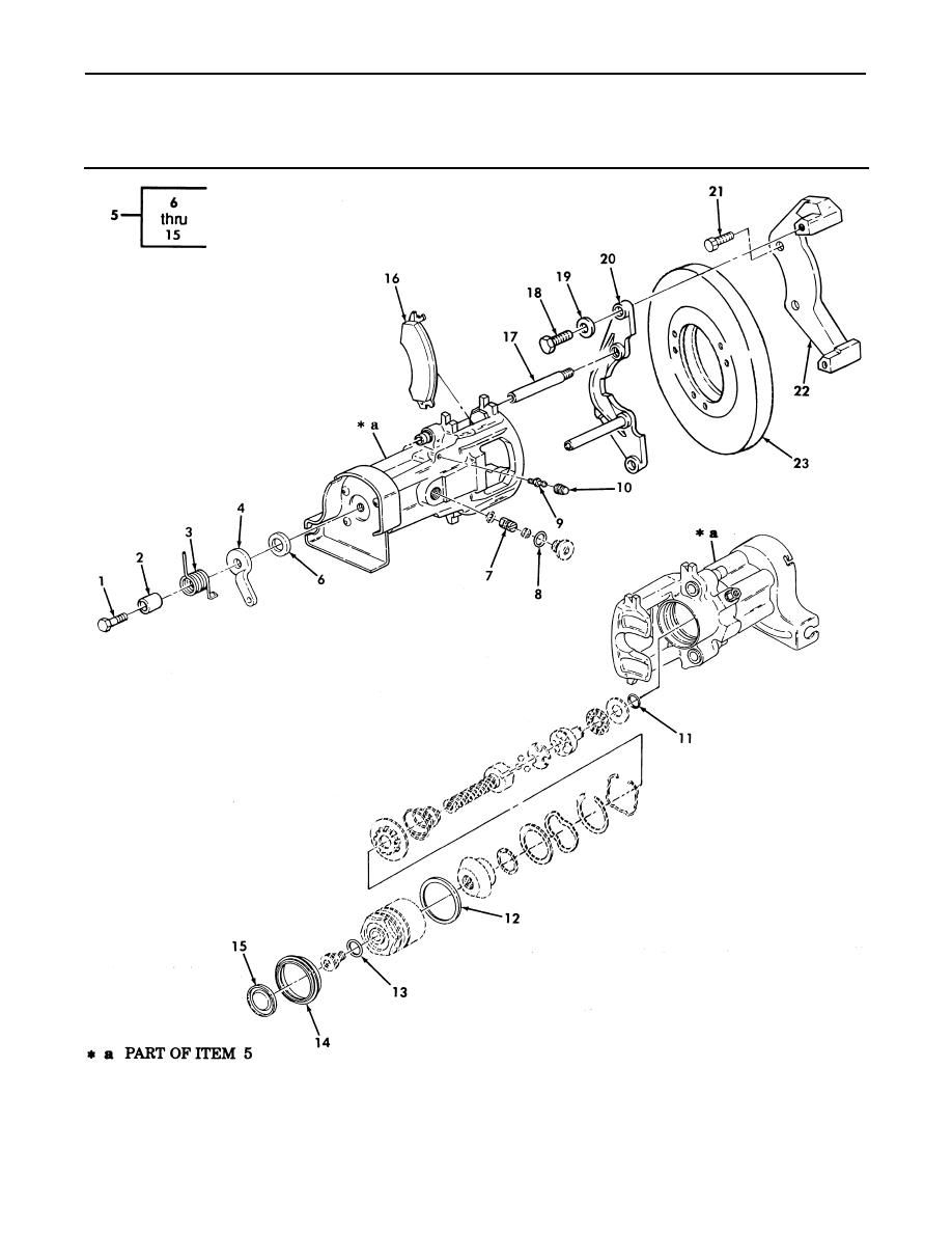 Figure 124. Rear Parking Brake and Rear Caliper Assembly