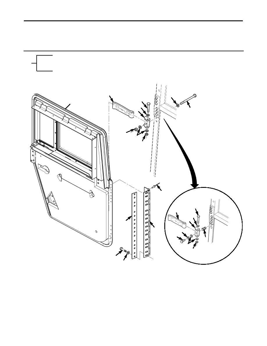 Figure 167C. Ballistic Door Assembly Mounting