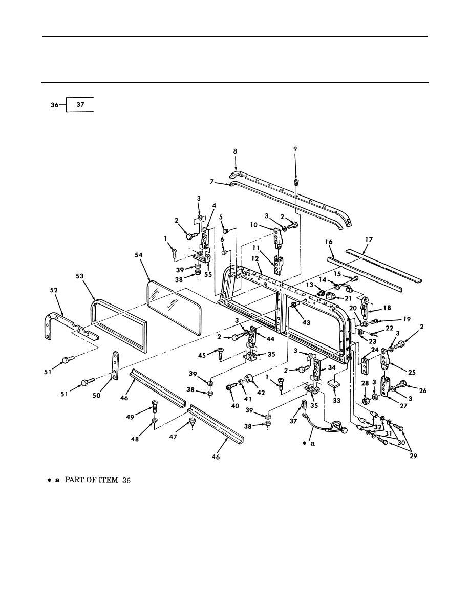 Figure 212. Windshield, Folddown.