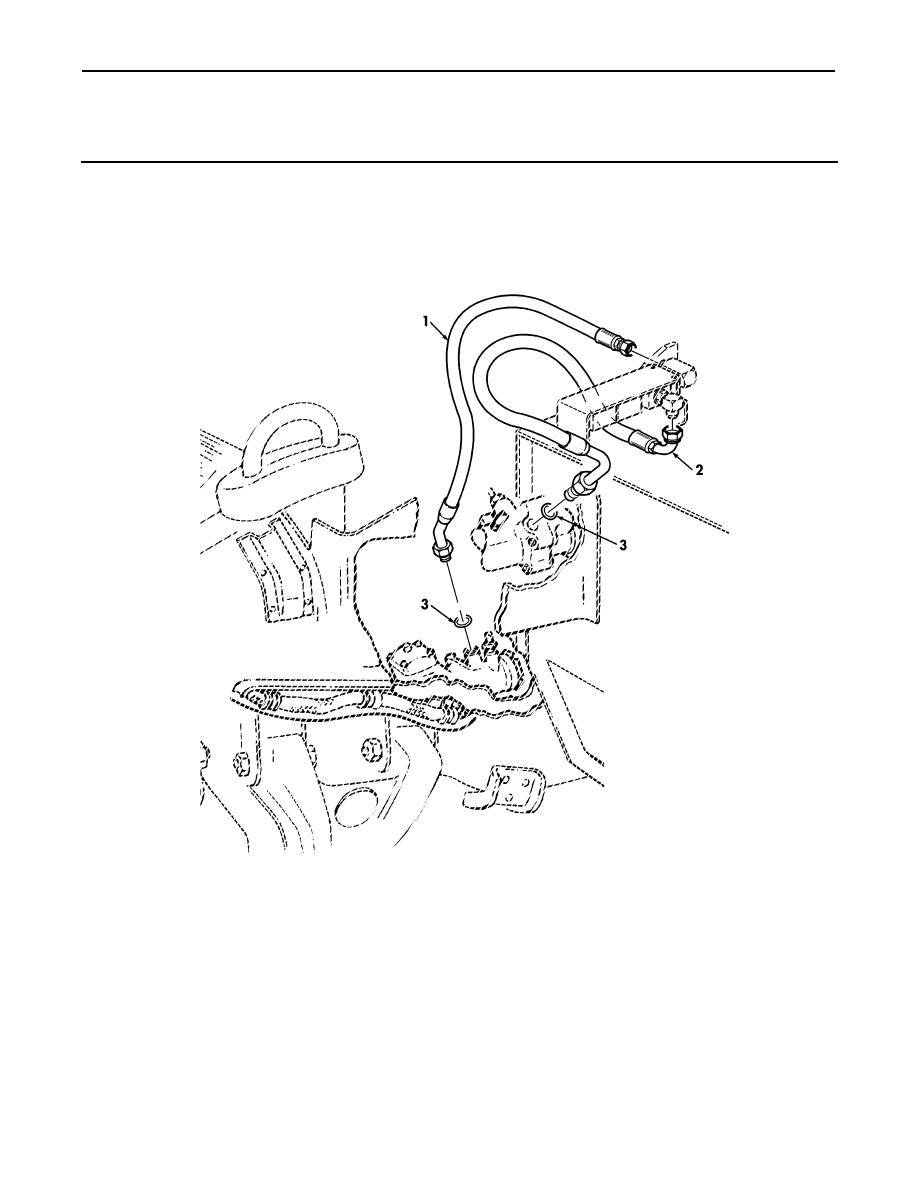 Figure 225D. Rear Hydraulic Winch Hose Assemblies, Hydro
