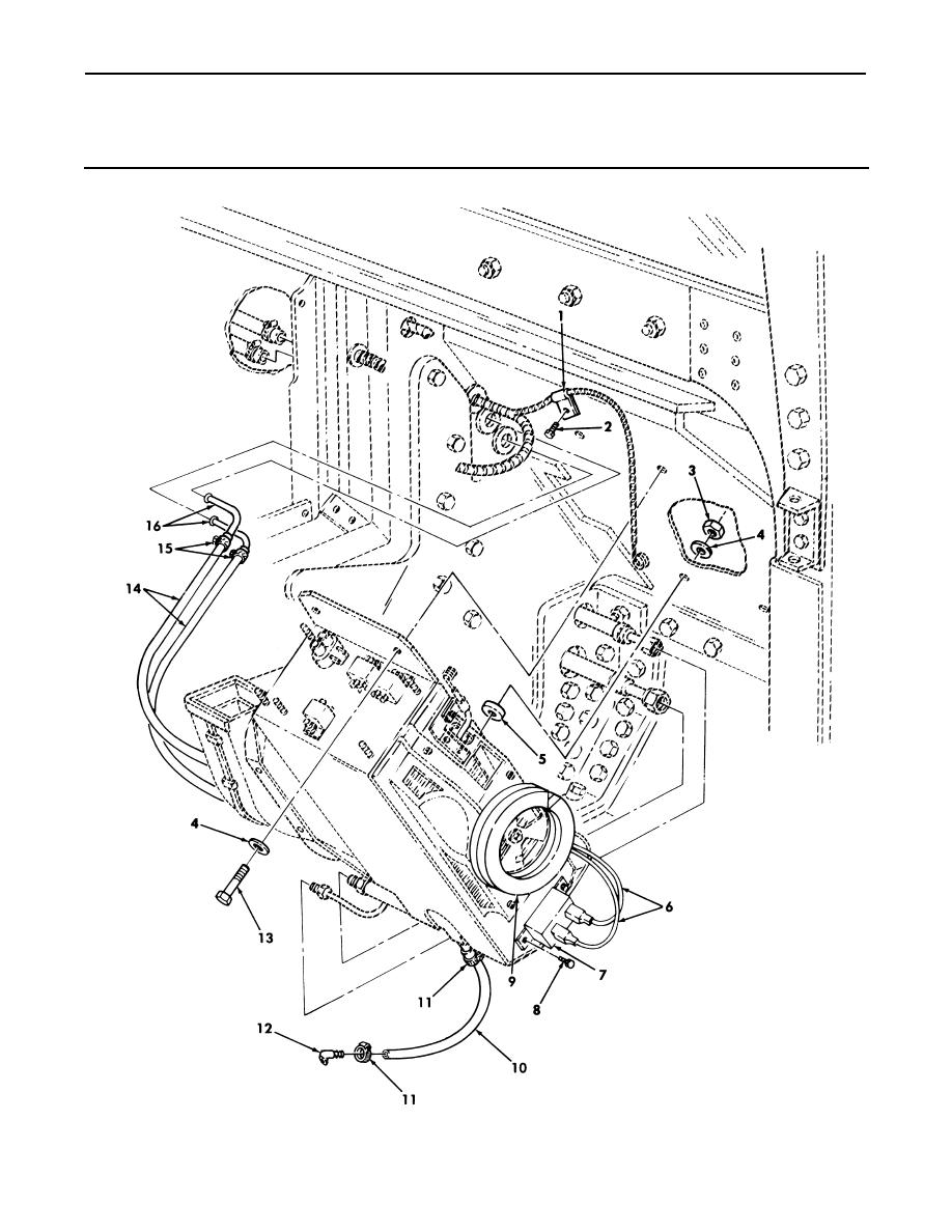 Figure 284. Front Evaporator/Heater Assembly Mounting and