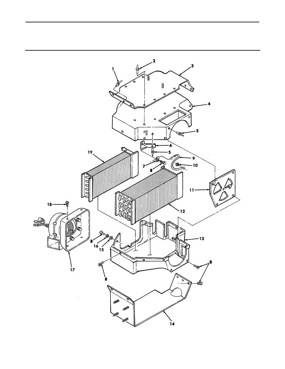 Figure 286. Front Evaporator/Heater, Case, and Related Parts