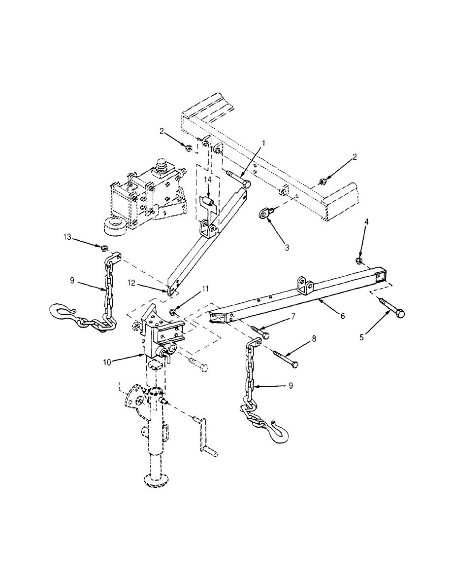Figure 16. Drawbar Assembly and Safety Chains (Sheet 1 of 2)