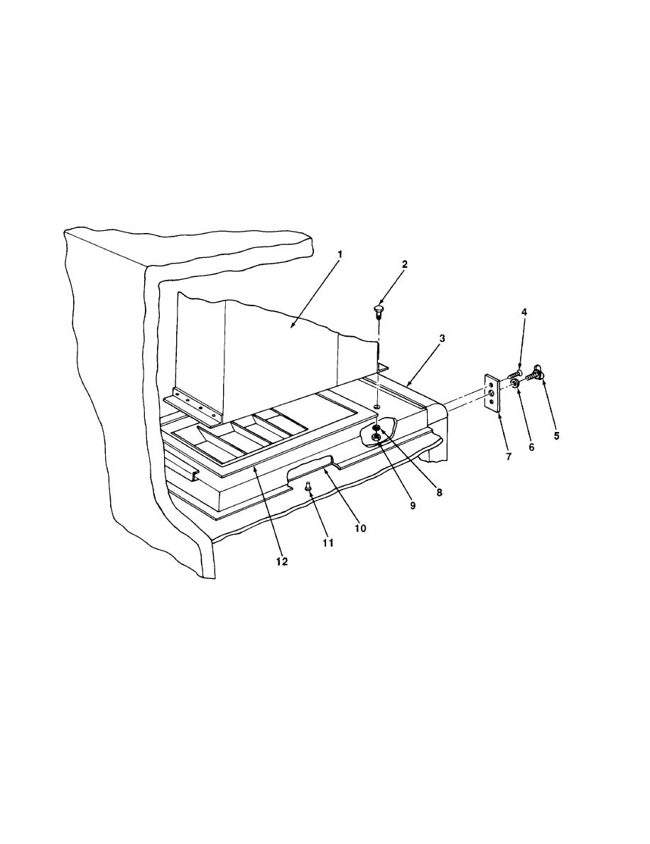 FIGURE 103. HEATER INSTALLATION (M447, M447C, AND M750)