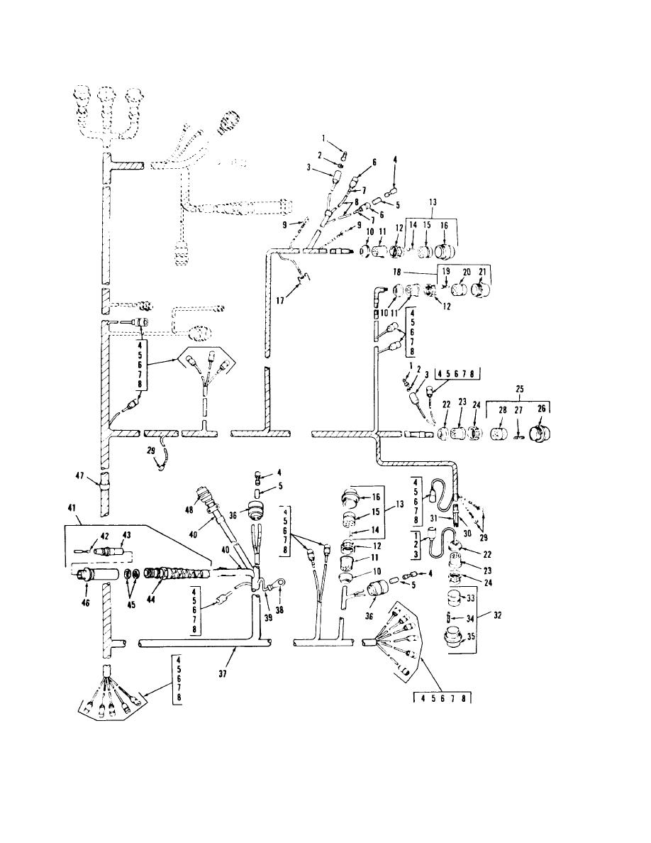 FIGURE 104. MASTER BRANCHED WIRING HARNESS ASSEMBLY (2D