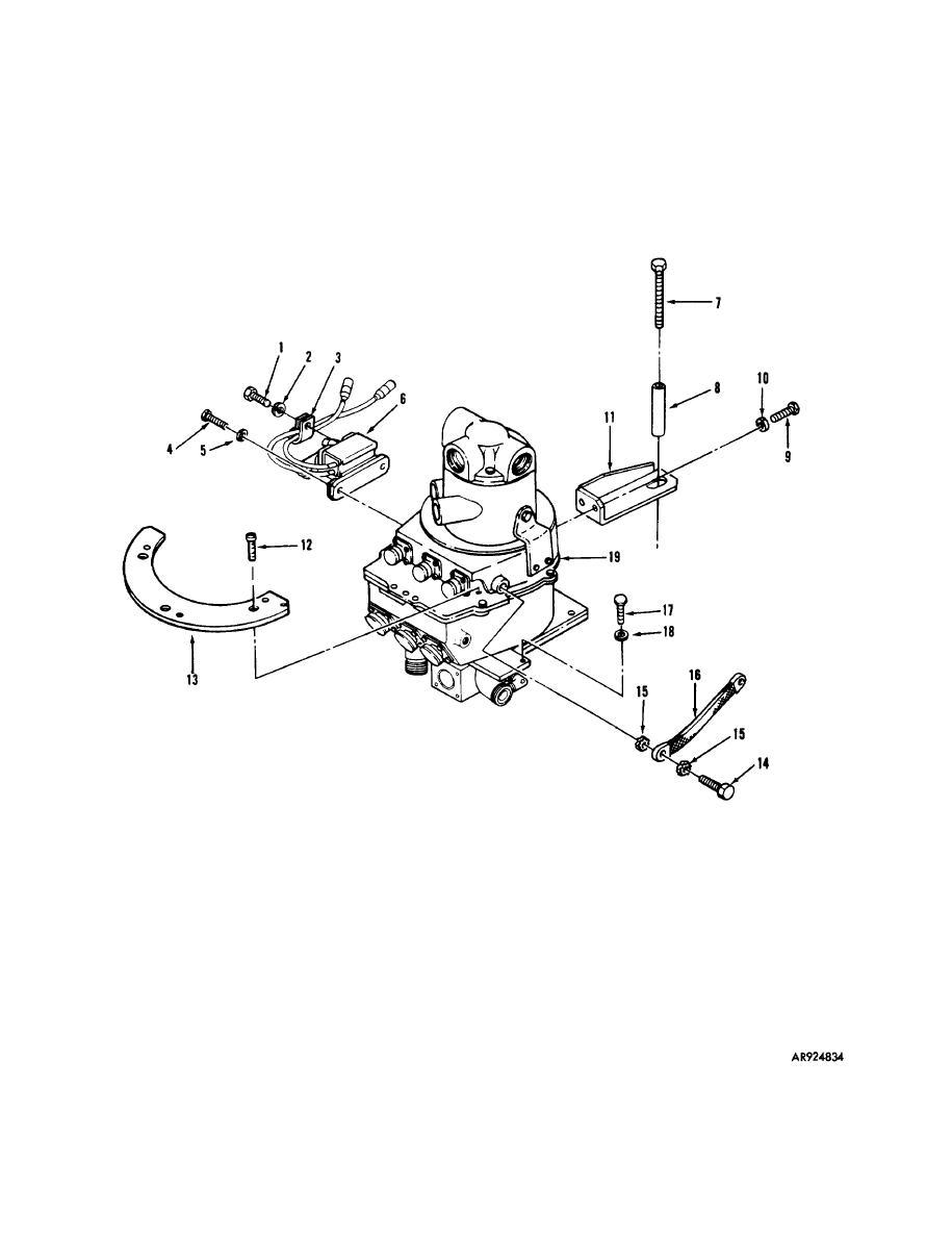 Figure 1. TURRET ELECTRICAL CONTACT RING ASSEMBLY AND