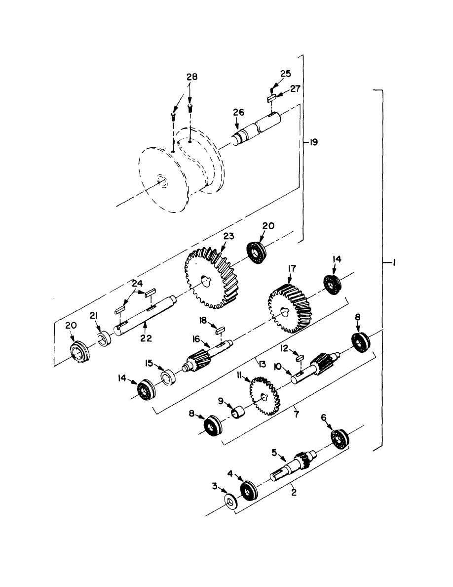 Figure 99. Reducer Assembly, Winch, Auxiliary Hoist
