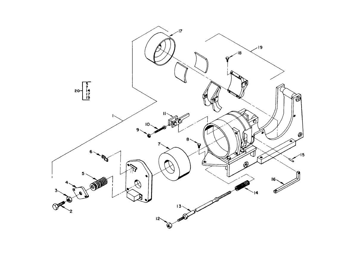 Figure 103 Shoe Brake Motor Winch Auxiliary Hoist