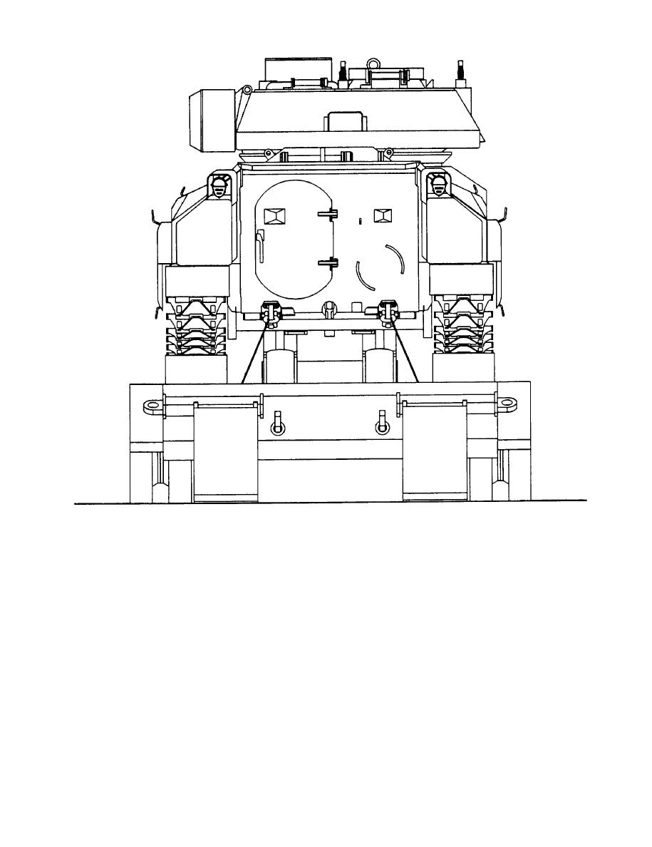 Figure 2-1. Tiedown configuration of the BFVS on the M1OOO