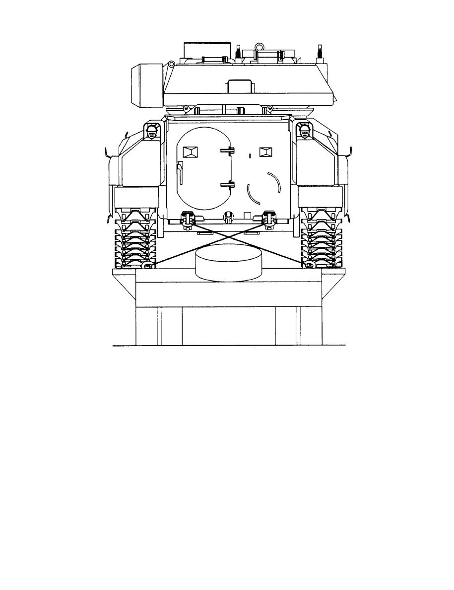 Figure 2-4. Tiedown configuration of the BFVS on the