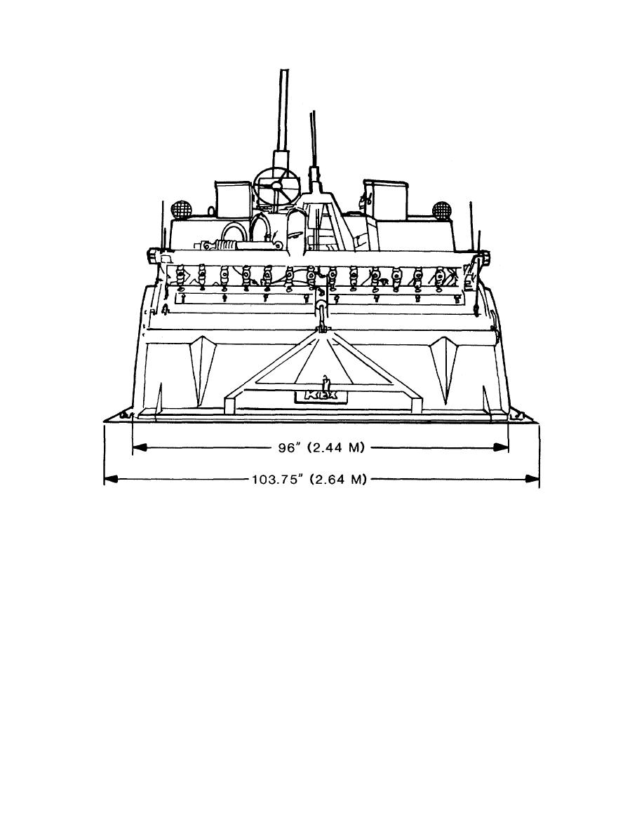 Figure 2-4. Rear view of the M076 rotary tiller mixer.