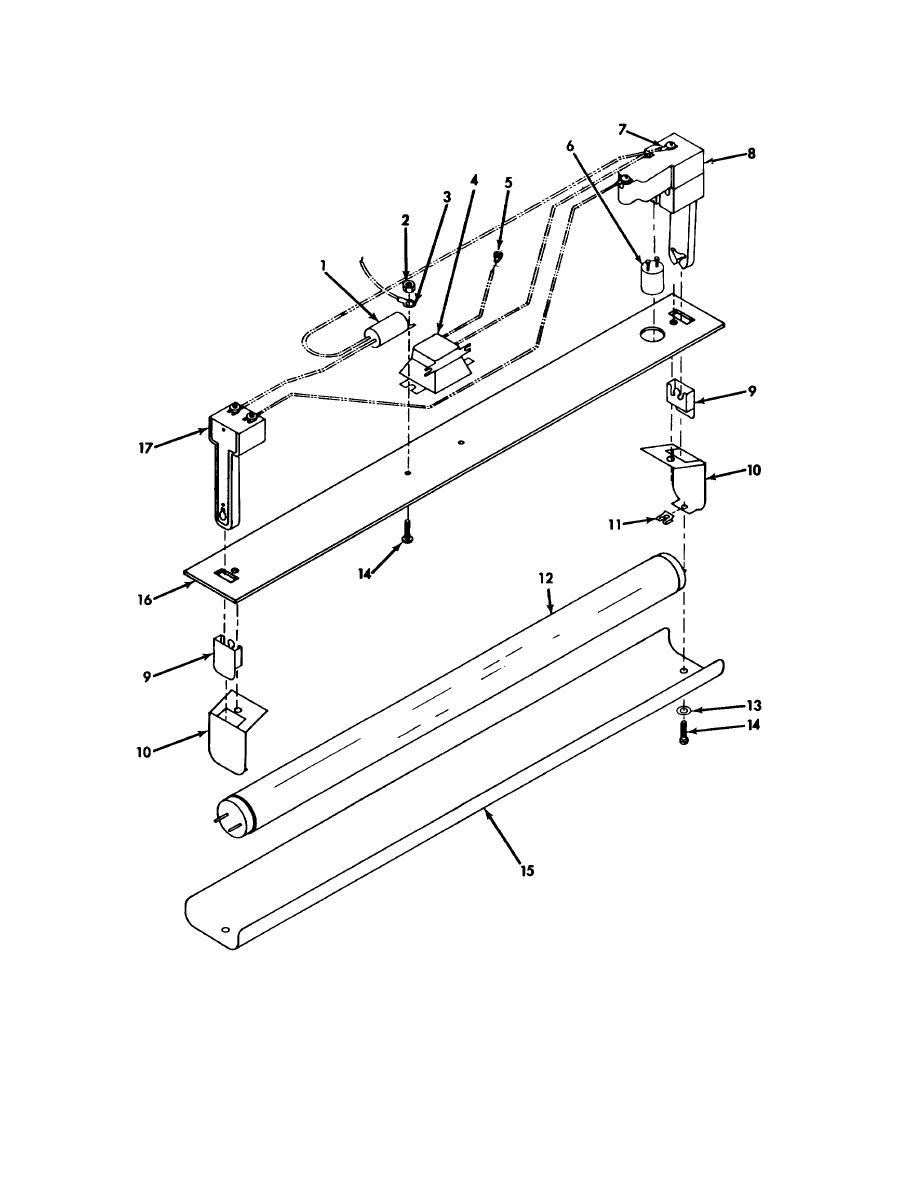 Figure 50. Fluorescent Lamp Assembly (3304975-1) (Group