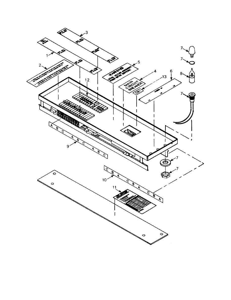 FIGURE 6. M200 Fedder Center Circuit Breaker Panels