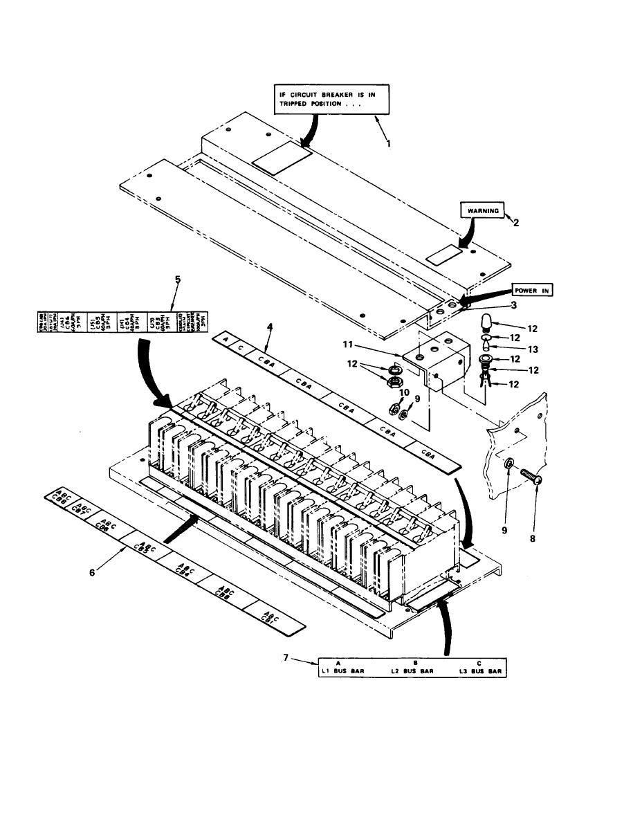 Figure 30. M 1 0 0 A/P Feeder Center Circuit Breaker Panels