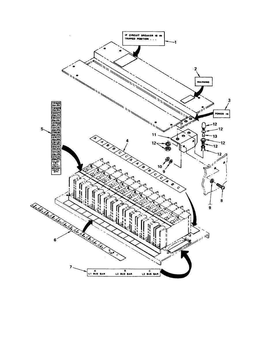 Figure 47. M 4 0 A/P Distribution Center Circuit Breaker