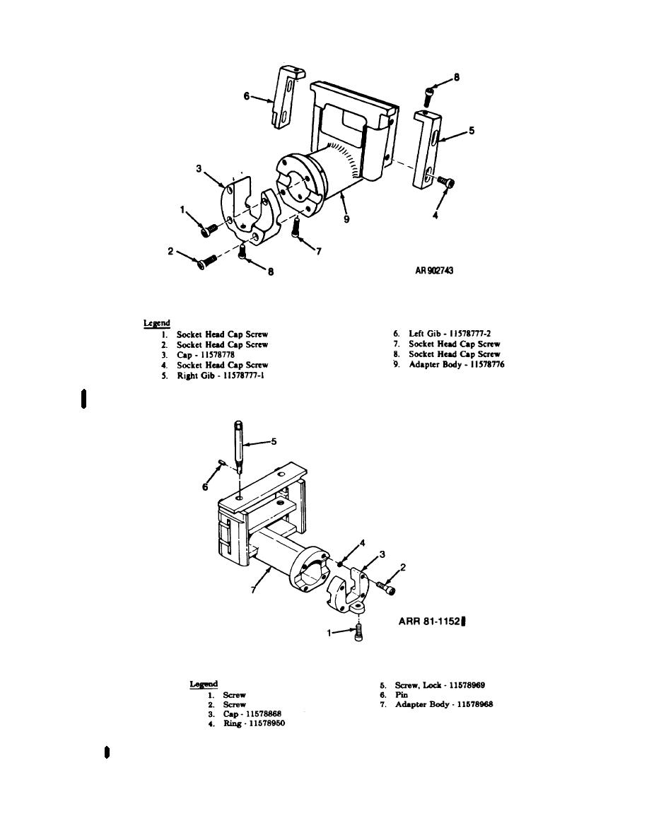 Figure 4-6. Disassembly/assembly of adapter assembly PN