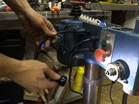 Bench Drill Restoration - Rebuild, Clean, New Buttons, LED Light