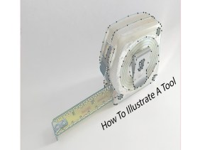 How To Illustrate A Tool Tape Measure