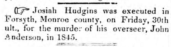 Josiah Hudgins Federal Union May 11 1847