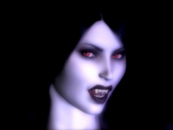 vampiresa neon morado