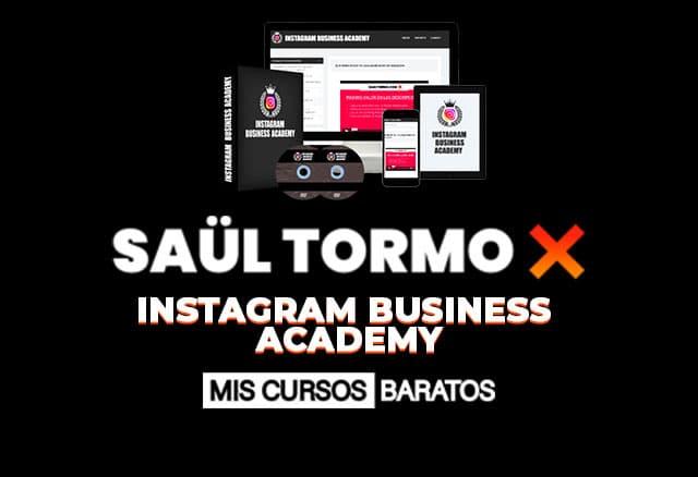 Instagram Business Academy de Saul Tormo 1