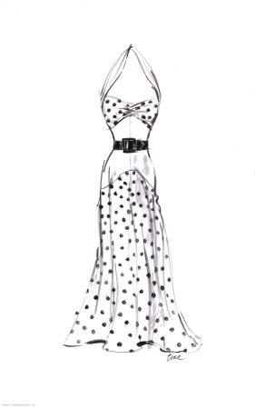 Dibujos para pintar unicornios online y para imprimir. Dibujos de vestidos   Dibujos