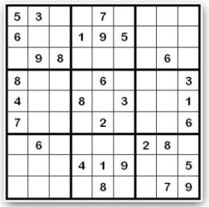 Sudoku como alternativa perfecta para  organizar una buena tarde de pasatiempos para hacer en casa