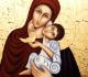 nossa com o Menino Jesus e um pássaro