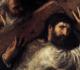 Pintura representa o Cirineu ajudando Jesus