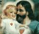 Imagem dos corações de São José e do Menino Jesus