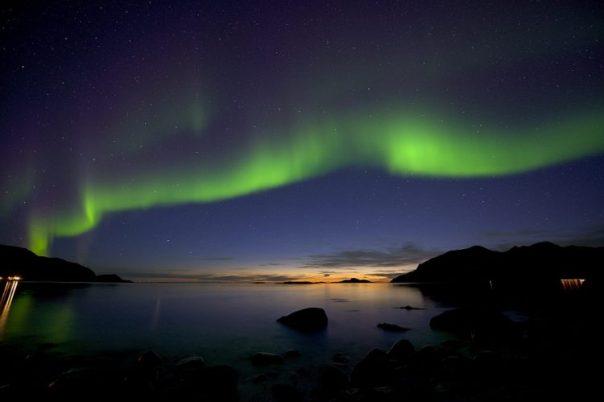 Céu da Aurora Boreal