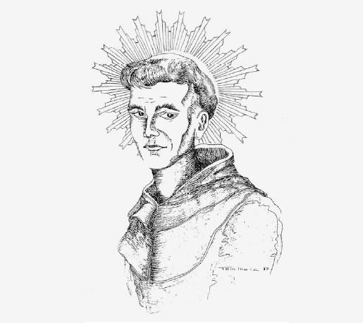 Gravura retratando Frei Galvão, de Tom Maia