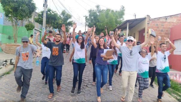 Missionários nas ruas do Horto