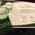 Certificado Melhores ONGs 2018