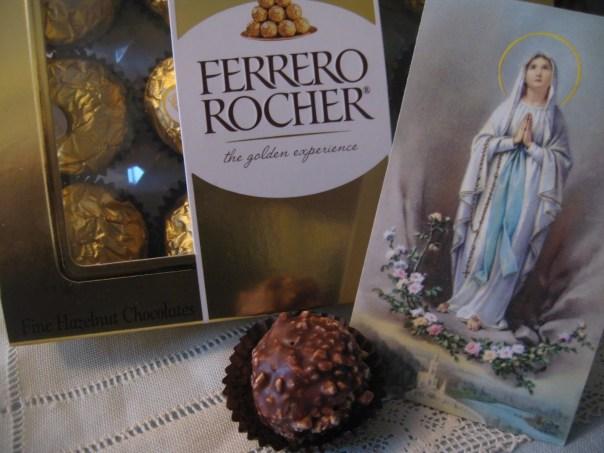 Ferrero Rocher e Nossa Senhora de Lourdes