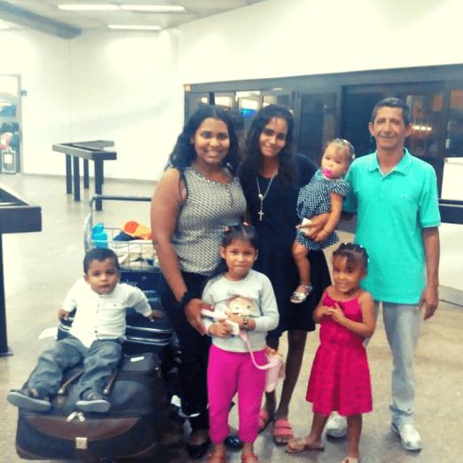 Família venezuelana acolhida