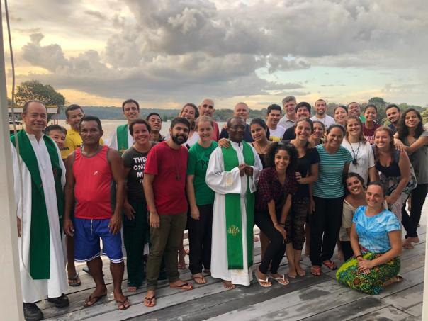 Missionários que participaram do evento.