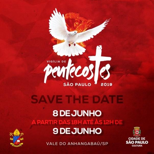 banner de divulgação da Vigília de Pentecostes